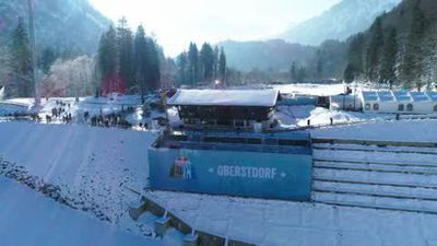Competitors take on challenging Winter Obstacle Race in Oberstdorf