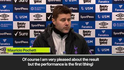 Pochettino 'proud' of Tottenham's performance in a 6-2 Everton win