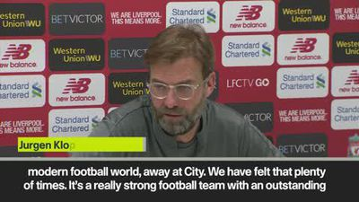 "Man City ""still the best team in the world"" says Klopp ahead of EPL clash"