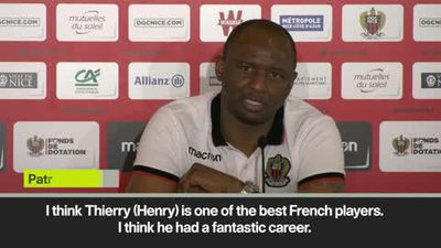 Vieira compares Henry with Platini ahead of Monaco clash