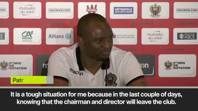 'It's a tough situation for me in Nice' Vieira