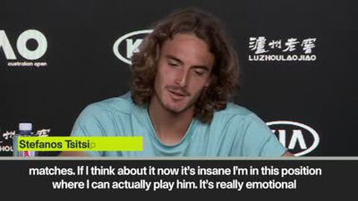 'It's insane that I am playing him' Tsitsipas on Federer