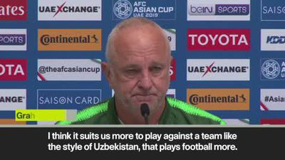 Arnold jokes about Australia sharing a hotel with Uzbekistan ahead of Asian Cup last-16 clash