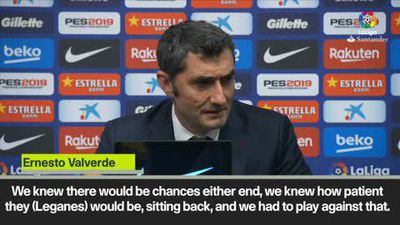 Valverde defends Messi starting on bench during win