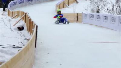 Natural track luge action from Moscow, as Italy's Alex Gruber triumphs
