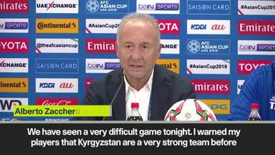 Zaccheroni hails UAE determination and calls for improvement in quarter-finals