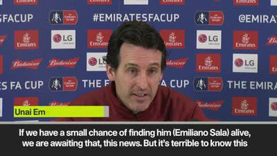 'He is a fighter' Emery on Sala
