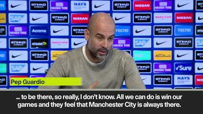 "Guardiola - Need to let Liverpool ""feel we are there"""
