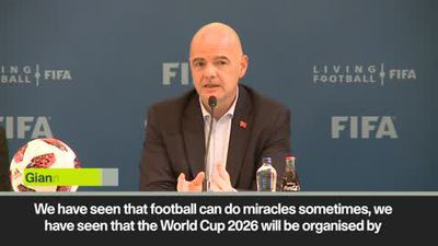 Despite wall debate, USA and Mexico will have to work together says FIFA President Gianni Infantino