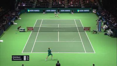 Nishikori and Wawrinka march on in Rotterdam