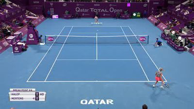 Mertens shocks top seed Halep to win the Qatar Open