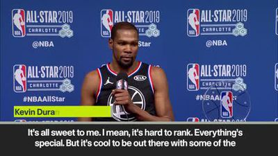 Kevin Durant on winning MVP trophy after NBA All-Star Game