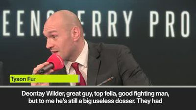 'Wilder is a useless dosser' - Tyson Fury on potential rematch