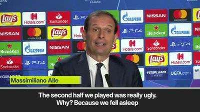 'Juve played ugly second half' Allegri