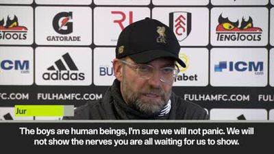 """We won't show the nerves you are all waiting for"" says Klopp as Liverpool stay in EPL title race..."