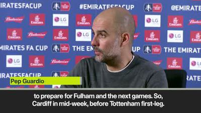 Guardiola on 'crazy' fixture schedule