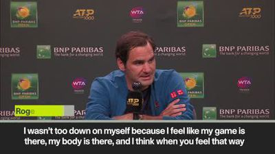 Federer 'ok with Indian Wells final loss'