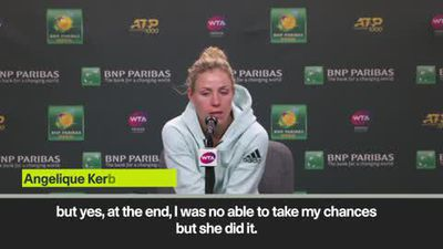 'Andreescu deserved to win' Kerber after losing Indian Wells final
