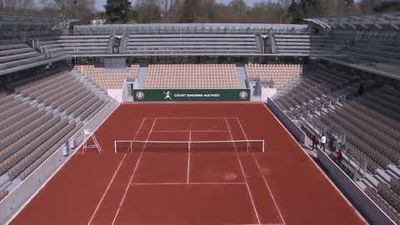 Inauguration of the new Court Simonne-Mathieu at Roland Garros