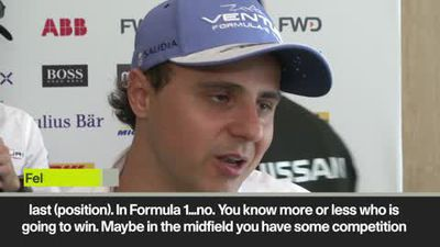 Massa - F1 too predictable, Formula E 10 times more competitive