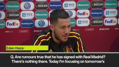 'There's nothing there' Hazard denies deal with Real Madrid.