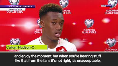 Hudson-Odoi slams racist chants during England match vs Montenegro