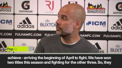 City must be 'a machine' to win quadruple, says Guardiola