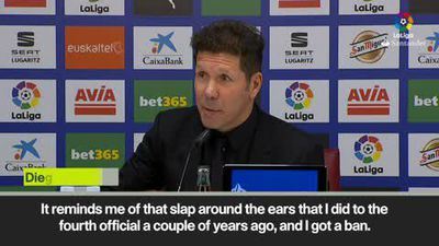 'I got four matches ban for doing that' Simeone on the ref slapping Morata