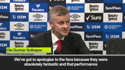 We need to apologise to fans - Solksjaer