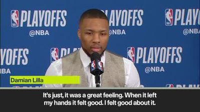 """It was a great feeling"" says Lillard after hitting game winning shot at the buzzer for Portland ..."