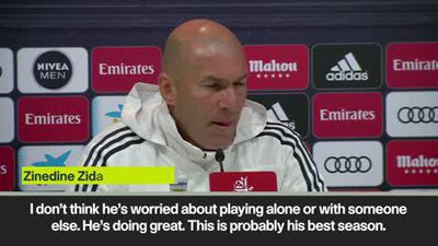 Zidane hails Benzema's 'best season' at Real Madrid ahead of Getafe clash