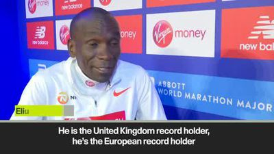 'Farah can beat me on Sunday' World record holder Kipchoge looks ahead to the 2019 London Marathon