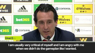 Emery 'angry with himself' after Arsenal's 3-1 loss to Wolves