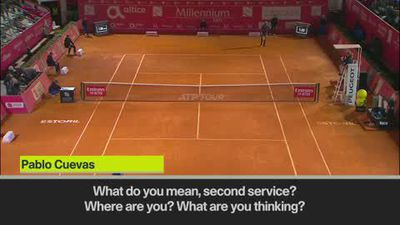 Furious Cuevas to chair umpire – 'You are already on the beach'