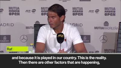 """The only favourite is the winner"" - Nadal ahead of Madrid Open"