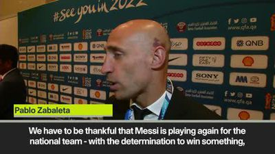 'Be thankful for Messi' return says Zabaleta ahead of Argentina's summer Copa America campaign