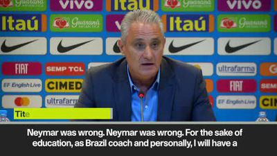 'I will tell Neymar he was wrong' - Brazil coach Tite