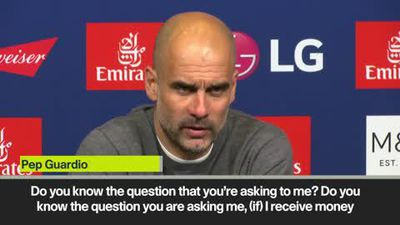 Guardiola angrily reacts to Mancini question at press conference