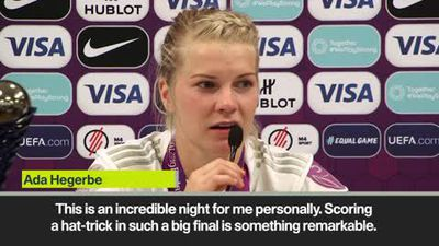 'Incredible' Ada Hegerberg on hat-trick in Women's UCL final