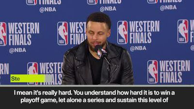 '5 straight finals - it's kind of crazy to think about' Steph Curry after Warriors make finals