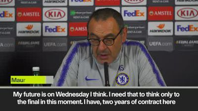 'My future is Wednesday' Sarri on his Chelsea future