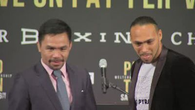 Pacquiao ignores Thurman's insults at news conference ahead of fight
