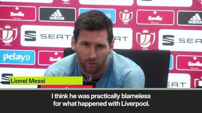 Messi defends Valverde after 'inexcusable' UCL thrashing at the hands of Liverpool
