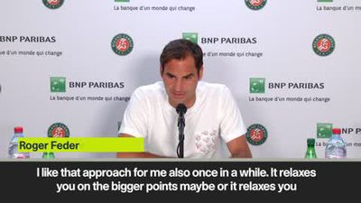 Federer revels in lack of pressue at the French Open