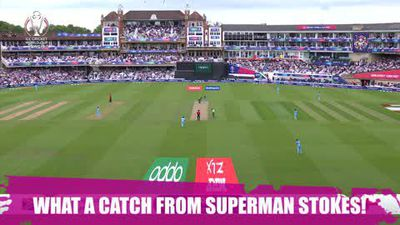 'Superman' Stokes makes epic diving catch to take the wicket of South Africa's Phehlukwayo