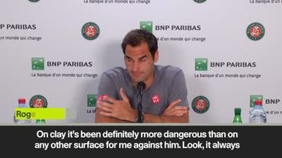 Federer admits Wawrinka on clay is more likely to beat him than on other surfaces