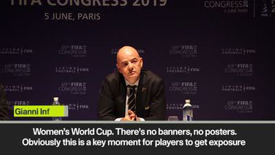 Is that true? Infantino not aware of women getting less TV exposure in football