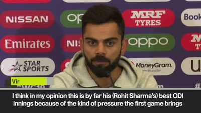 'Best Rohit innings I've eve seen' Kohli after India World Cup win