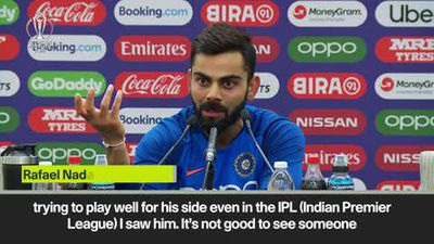 'He didn't do anything to be booed,' says Kohli about crowd reaction to Smith playing