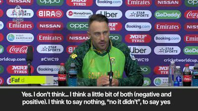 South Africa skipper du Plessis on AB de Villiers' hopes of getting back in the team